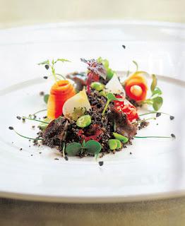 éti csiga szántóföld tányér feinschmecker reinstoff étterem