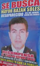 Afiches para recuperar el cuerpo del mayor Bazán abundan en Jaén y Bagua