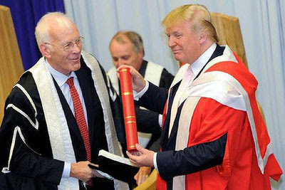 Dr Trump and Sir Ian Wood - the saviours of the north east