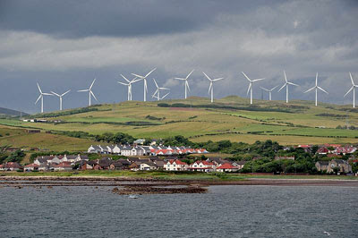 a fantastic picture of a windfarm near Ardrossan