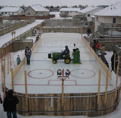 James Mirtle The Ultimate Oilers Backyard Rink A Hockey - Backyard roller hockey rink