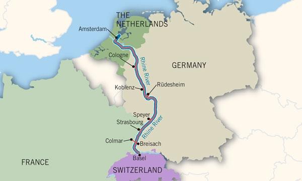 KevinGerman Middle Rhine Valley - Rhine valley germany map