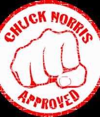 Questo blog è approvato da Chuck Norris