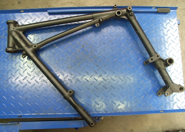 Superior Above Is The Front Loop Of A Pre Duplex Swingarm Frame That Will Be The  Base Of This Project. We Have Removed The Swingarm, Knocked Out The  Steering Races ...