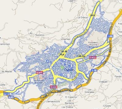 Ampliada la cobertura de StreetView en Madrid, Barcelona, Sevilla y Valencia StreetView-Oviedo