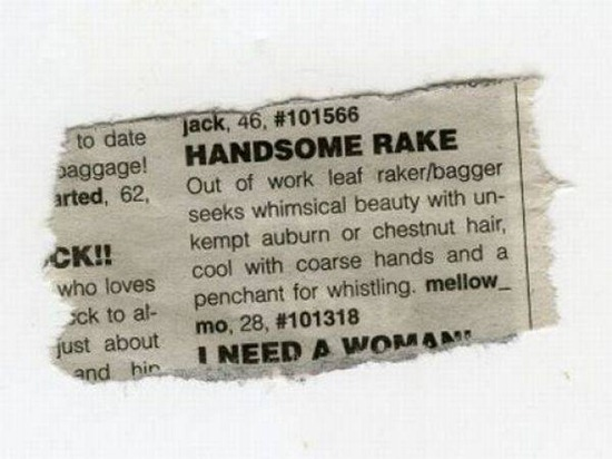 Funny personal dating ad