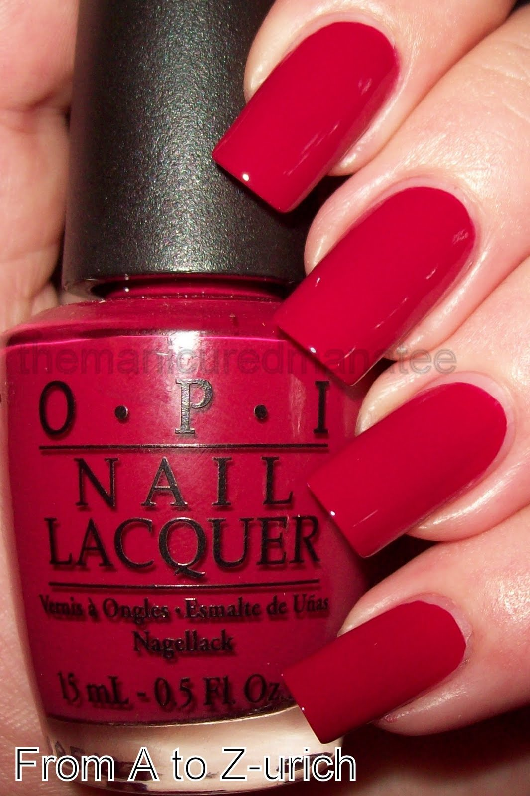 Top The Manicured Manatee: OPI Swiss Kinda IJ93