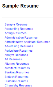 Sample of Resume