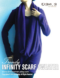Infinity scarf sweater dress vs top