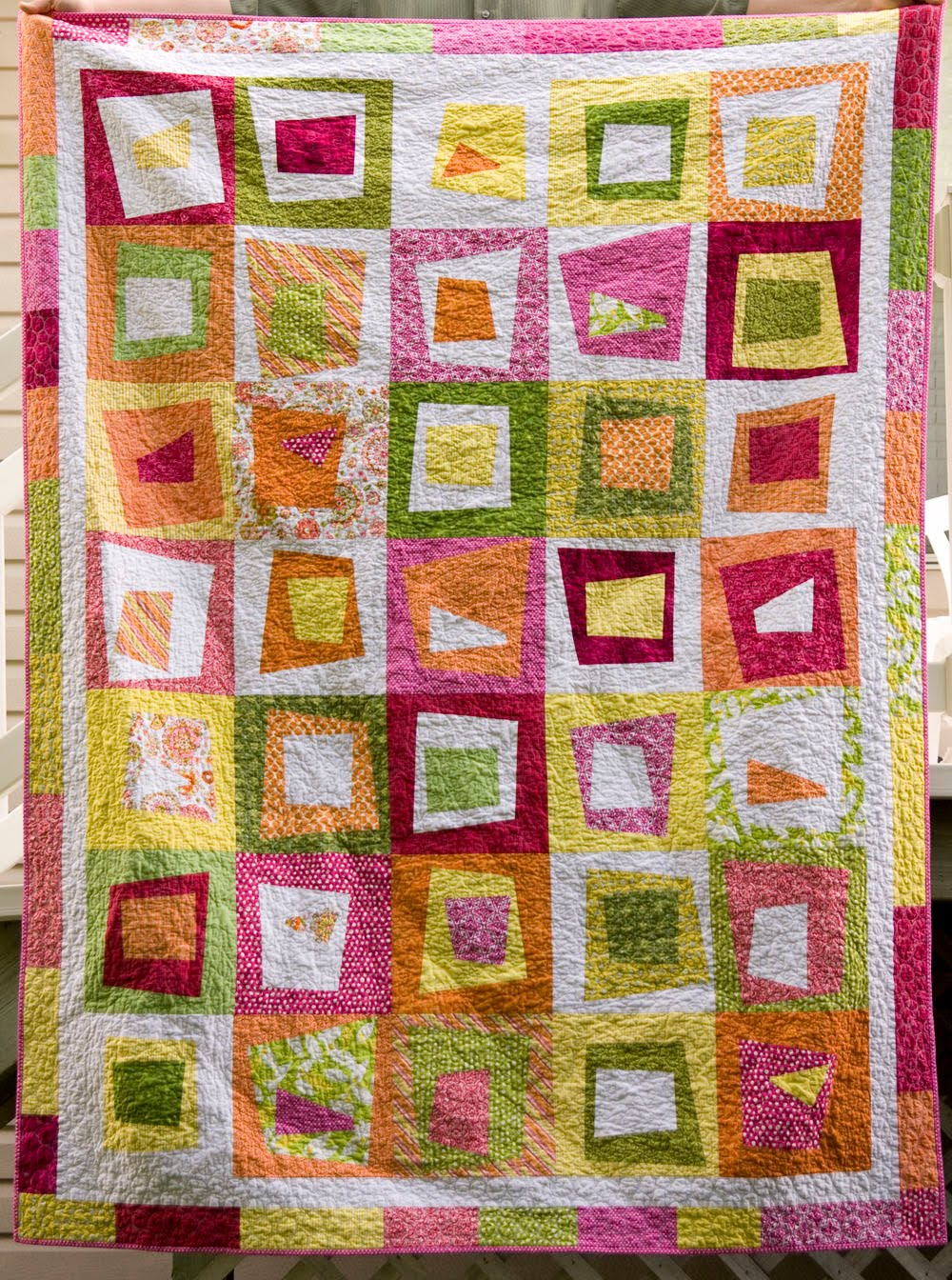 From The Blue Chair Stack Whack Wonky Block Tutorial