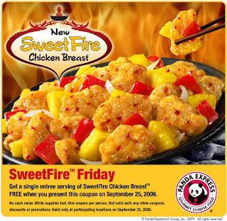 panda+express+free+entree FREE SweetFire Chicken at Panda Express Today Only!