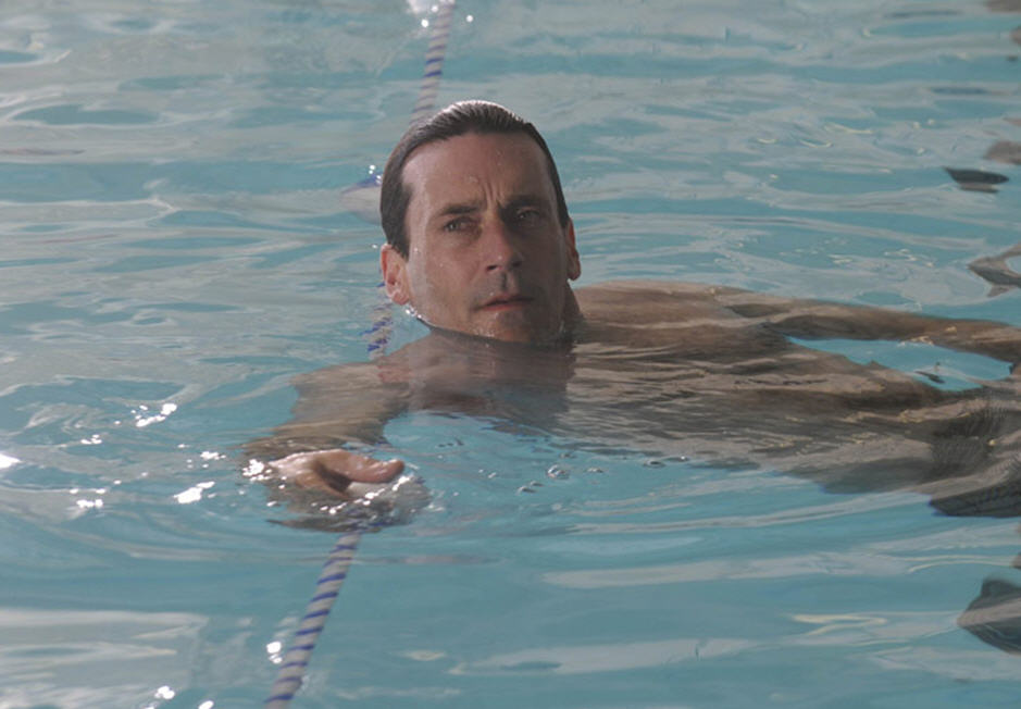 Don Draper swimming