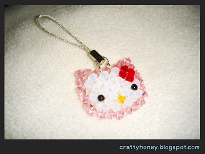 HELLO KITTY LOOK ALIKE KNITTING PATTERN   KNITTING PATTERN