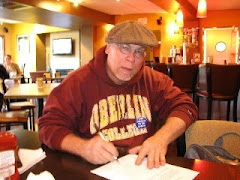 Bruce Bostick composing first rough draft...