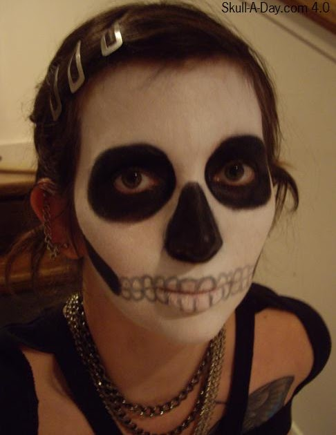 Face Paint Skeleton Images