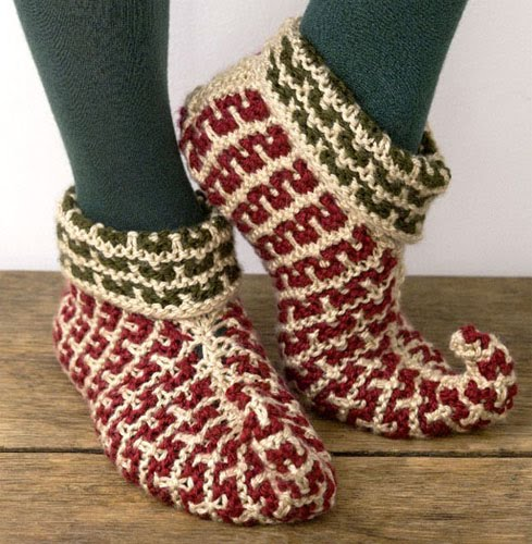 Knitting Pattern For Elf Slippers : Slippers and Socks Tutorials