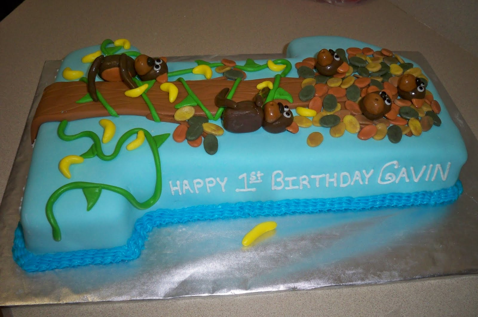 Grace Of Cakes Monkey Cake For 1st Birthday