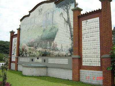 Mural azulejado na Rodovia dos Imigrandes, junto ao Rancho da Pamonha - free picture by Emilio Pechini