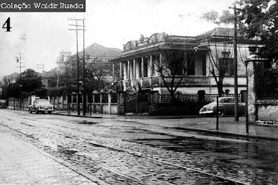 Foto antiga de Santos em 1956 - arquivo Policia Civil - coleção de Waldir Rueda