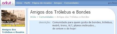 PARTICIPE DA COMUNIDADE DOS AMIGOS DOS TRÓLEBUS E BONDES - CLIQUE AQUI