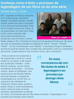 Reprodução do site de O Globo - clique aqui para ir à pagina original