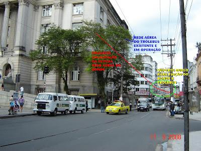 Rua General Câmara e Praça Mauá - Santos - SP - Foto de Emilio Pechini em 17/09/2008