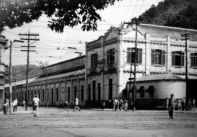 Cia City of Santos Improvements Company - C.S.I.C. - em 1951 - Reprodução feita por Emilio Pechini sobre foto constante em Acervo Histórico