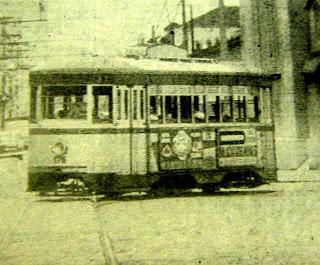 Bonde em Santos - foto: arquivo do jornal Cidade de Santos - 29/03/1970