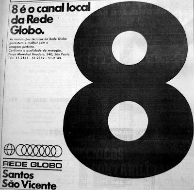 Reprodução - Jornal Cidade de Santos - Agosto de 1973