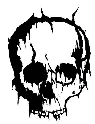 free skull tattoo flash. Free Tattoo Flash: Dark