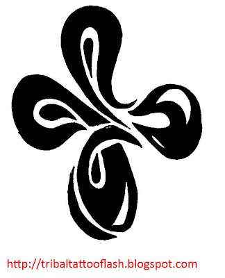 So I have made a little luck Tattoo A 4 leaf Clover for Luck. Clover Luck