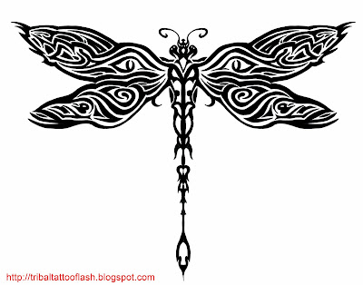 Free Tattoo Flash: Flies and dragon wise tattoos