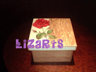 caixa pintada à mão