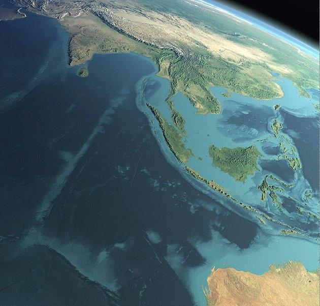 L'archipel indonésien vu du ciel