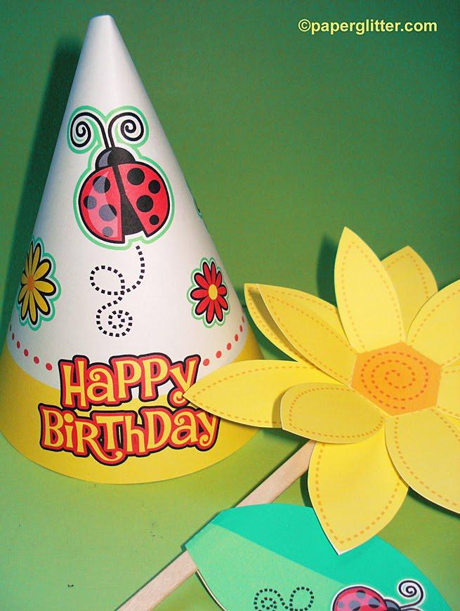 FREE Ladybug Birthday Hat