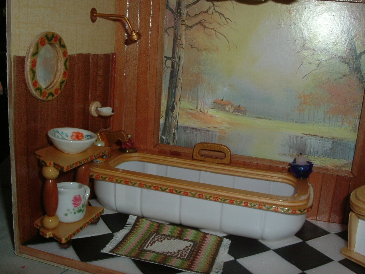 Baños Estilo Country:Cuarto de baño estilo country a partir de un kit de mueblecitos de