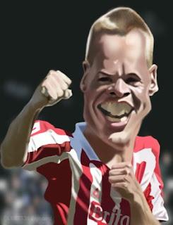 Steve Roberts' Caricatures.: Stoke City FC - Ryan Shawcross