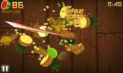 fruitninjawp71 Review: Fruit Ninja (iPhone / Windows Phone 7 / Android)