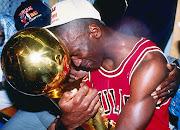 michael jordan holding trophy
