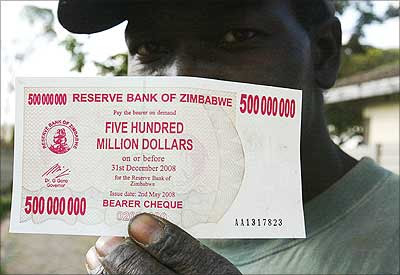 Crazy inflation in Zimbabwe