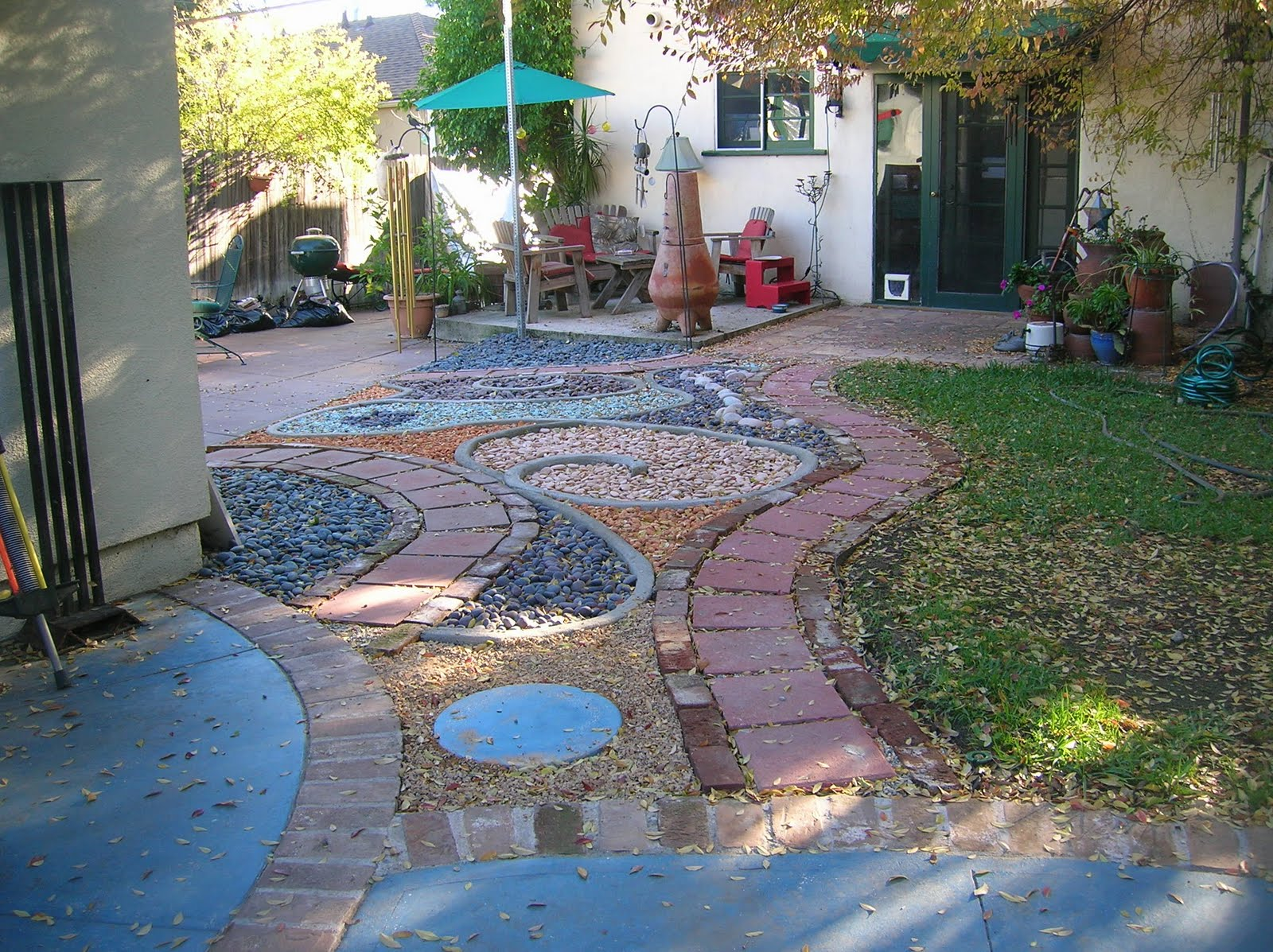 Cement Backyard Garden : The Artful Eye Landscape Backyard Rock Garden