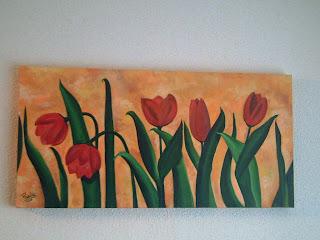 Paularte cuadros alargados for Cuadros rectangulares grandes