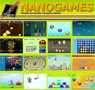Nanogames. Image of lots of the accessible games. You could win them all!