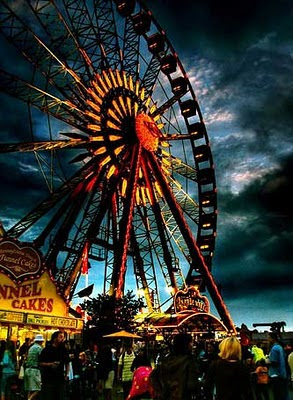 Image of a big-wheel at a fun fair.