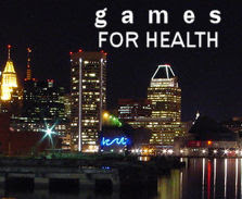 Games For Health: Image of a night time city-scape.