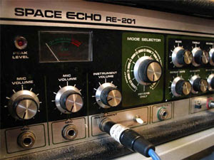 Music Search - image of a Space Echo tape effects unit.