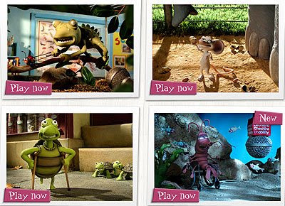 Image of four different clay-modelled animated games - Creature Discomforts.