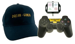 Image of Dream-Gamer Accessible Playstation Controller. Hat controller with switch interface and adapted JoyPad.