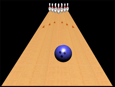 One Switch Bowling aka One Click Bowling - test screen.