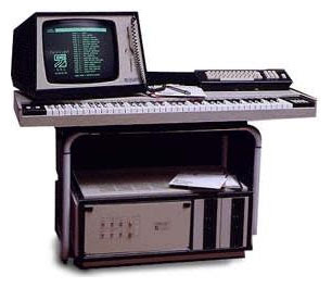 Image of a Fairlight CMI - Pioneering sampling keyboard and sequencer.